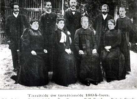 Tanári kar 1894-ben