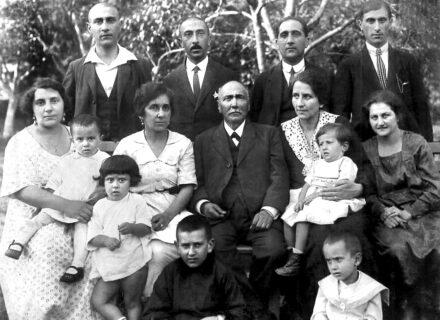 Dávid Antal és családja