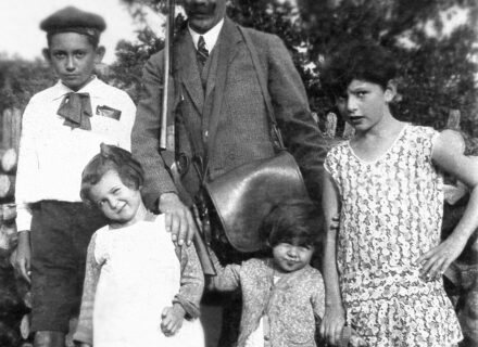 Gámentzy Albert és családja